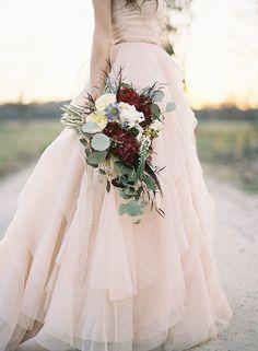 blush rochie de mireasa inpiratie de toamna