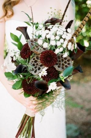 buchetul de mireasa decor de nunta inspiratie de toamna