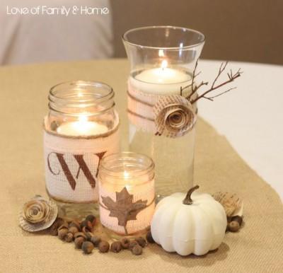 burlpa panza de sac inspiratie de toamna nunta decoratiuni