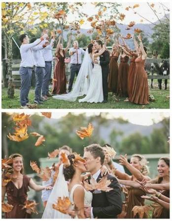 frunze decor inspiratie de toamna nunta