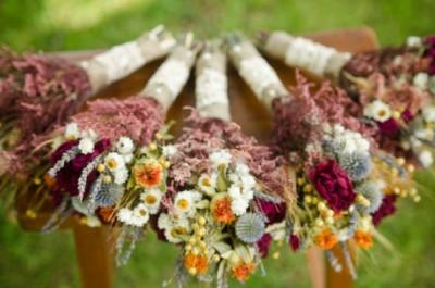 inpiratie de toamna- flori de camp- buchet de mireasa