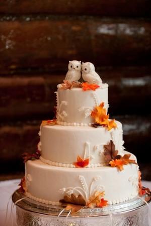 inspiratie de toamna - frunze - tort - nunta