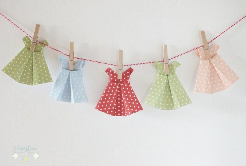 Decoratiuni Petrecere Fetite Rochite Origami