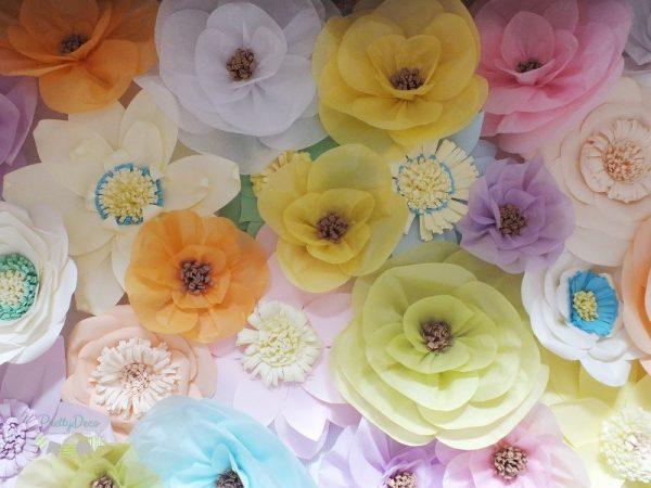 Panou decorativ floral multicolor