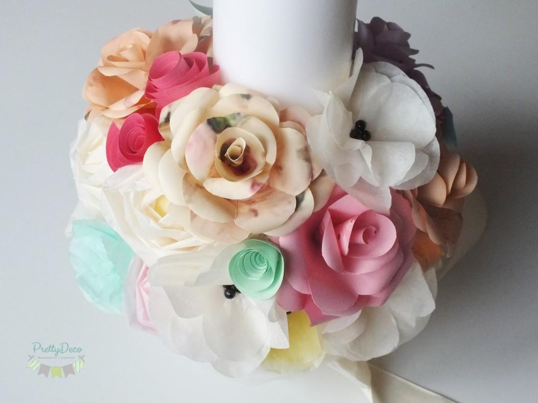 lumanare-de-botez-fetita-pastelata-flori-piersica-ivory-roz-vernil-culori-calde-lumanare-stalp