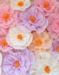 Flori hartie de matase