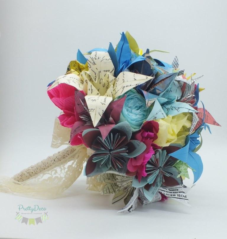 Buchet De Mireasa Cu Flori Origami Un Buchet Unic Si Personalizat
