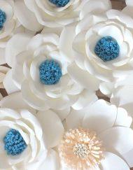 Flori mari hartie colorata