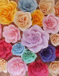 Flori medii hartie colorata