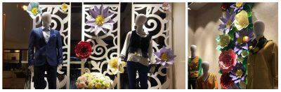 Panou decorativ floral pentru vitrina