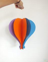 balon decorativ stil balon cu aer cald colorat petrecere copii